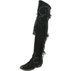 Naughty Monkey Over Knee Suede Fringe Boots 8.5